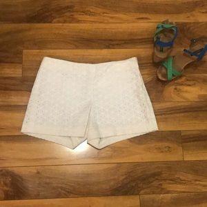 Ann Taylor eyelet lace shorts